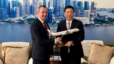 Premier Mark McGowan has announced a direct flight trial between Perth and China.