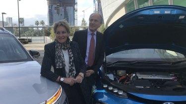 Regional Development Minister Alannah MacTiernan with Australia's Chief Scientist Alan Finkel ahead of a WA conference on hydrogen fuel.