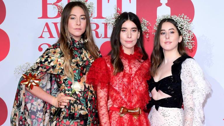 US band Haim at the 2018 Brit Awards.