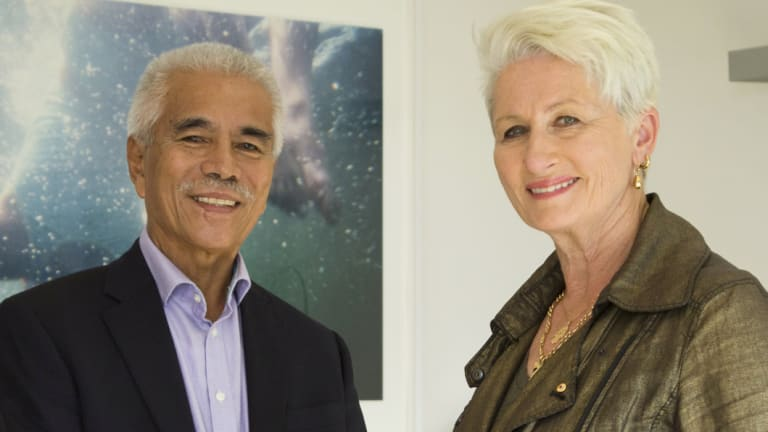 Anote Tong (left), a former president of Kiribati and now leading advocate for climate action, discussed the issue during a meeting with Kerryn Phelps, the likely new member for Wentworth, on Saturday in Sydney.