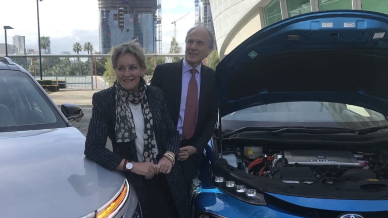 Regional Development Minister Alannah MacTiernan with Australia's Chief Scientist Alan Finkel ahead of a WA conference on hydrogen fuel.
