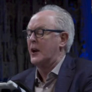 Actor John Lithgow reciting from the Mueller Report at Riverside Church in New York City.