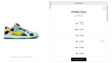 Nike collaborated with Ben & Jerry's to create a limited edition Dunks skate shoe that resales for thousands of dollars.