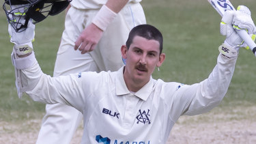 Former Blue Nic Maddinson received Victoria's Bill Lawry medal.