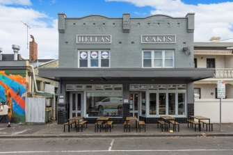 Hellas Cakes on Lennox Street is for sale.