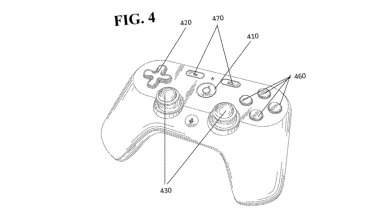An illustration from Google's controller patent. The finished product would not likely look like this.