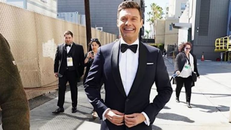 Ryan Seacrest on his way to the Oscars red carpet on Sunday.