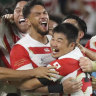 Japan shock the world again after humbling Ireland in RWC boilover