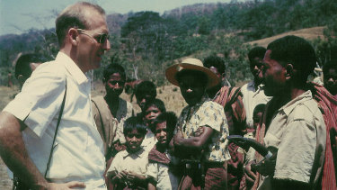 Human rights champion James Dunn and friends in East Timor, 1963.
