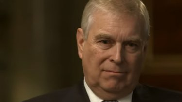 Prince Andrew in that car-crash interview about his friendship with the paedophile Jeffrey Epstein.