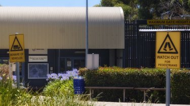 The Maribyrnong detention centre on Tuesday.
