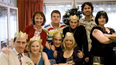 Something to celebrate: Gavin & Stacey sets ratings records.