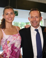 Frances Loch, the daughter of former Australian PM Tony Abbott, remains living in the United States.
