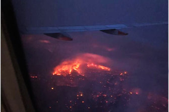 The Adelaide Hills were burning on Friday night as Melissa Ellery's plane flew in.