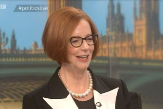 Julia Gillard speaks to BBC Television's Politics Live program.