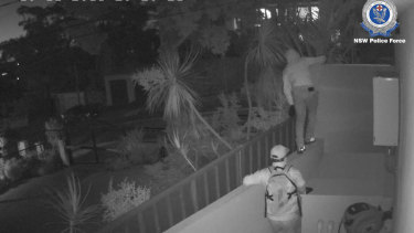 Alleged members of the Chilean syndicate caught on CCTV.