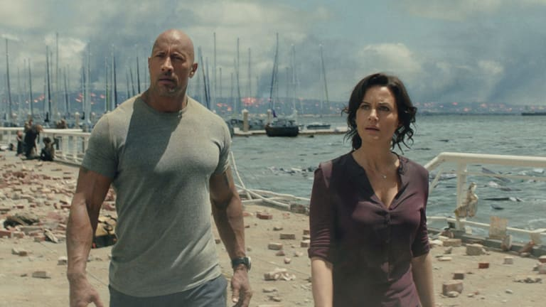 Expect more like this: The Dwayne Johnson movie San Andreas was filmed on the Gold Coast in 2014.