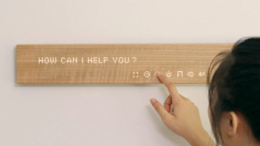 A smart display from Mui Labs is disguised as a decorative piece of wood.