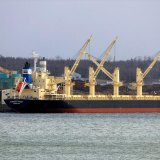 The Darya Krishna is expected to arrive at Gage Roads, out of Fremantle, on Monday.