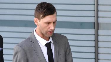 Aaron Llewellyn Jones arriving at court on Wednesday,