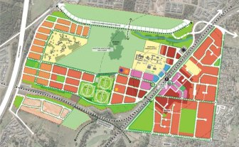 Plans for Glenfield Place development and Hurlstone Agricultural High School.
