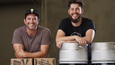 Freo.Social director Dave Chitty and head brewer Rhys Lopez are pumped about the new Freo venue.