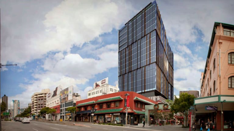 A commercial tower has been proposed to be built above the Chinatown Mall car park.