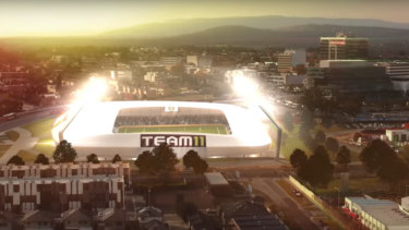 An artist's impression of the potential new stadium in Dandenong.