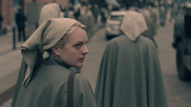 Elisabeth Moss as June in season three of The Handmaid's Tale.