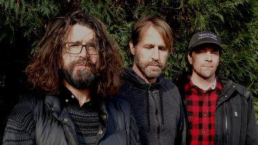 Lou Barlow (left) and his Sebadoh bandmates return to Australia this month.