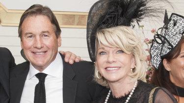Happy couple: Jeffrey Browne and Rhonda Wyllie getting married in Perth.