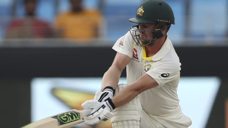 Travis Head played an important second innings in his Test debut.