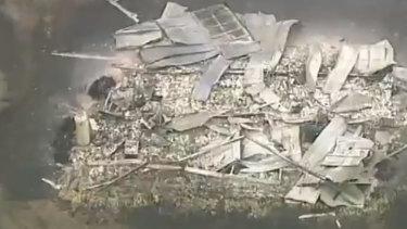 The devastation in the rural hamlet of Tonimbuk.