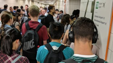 Commuters stuck at Central Station after a train had to be offloaded due to a mechanical issue.