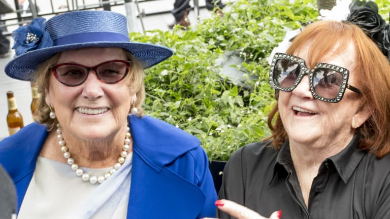 """Racing stalwarts Kate Barry and Eileen """"Red"""" Bond."""