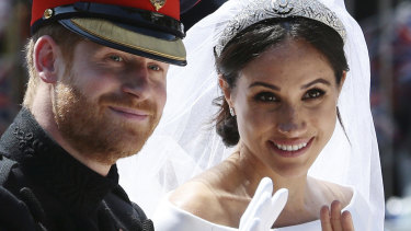 The Duke and Duchess of Sussex after their wedding.