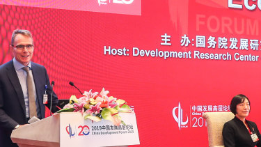 BHP CEO Andrew Mackenzie at the China Development Forum 2019 in Beijing.