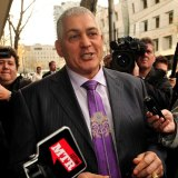 """Mick Gatto after he was acquitted of the murder of Andrew """"Benji"""" Veniamin in 2005."""