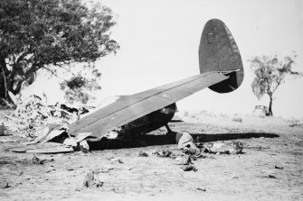 Wreckage from the crash in which 10 people died in Canberra.
