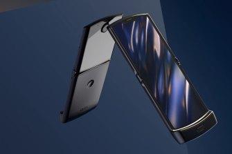 Motorola's rebooted Razr flip phone.