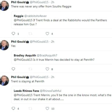 The final word: Tweets from Penrith boss Phil Gould.