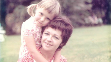 Monique and mum Chantal in the Sydney Botanic Gardens in the early 1970s.