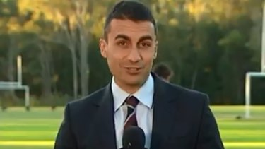 Former Channel Seven sports reporter Josh Massoud.