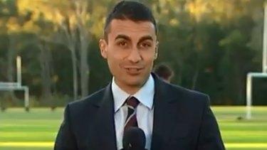 Former Channel Seven sports reporter Josh Massoud.