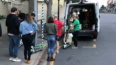 Lime claims people are lining up to take scooters on Brisbane streets after they have been repaired and returned to popular locations.
