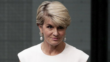 Julie Bishop tells the House of Representatives she will quit politics.