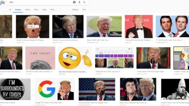 """A screen shot of Google Images search results for the """"idiot"""" on Wednesday."""