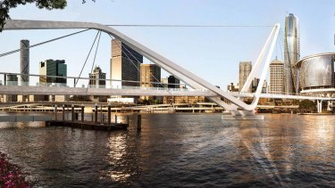 The concept design for the Neville Bonner Bridge, from Queen's Wharf to South Brisbane, has been released.