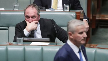 Mr Joyce is pushing to replace Mr McCormack as Deputy Prime Minister and return to cabinet if he succeeds with the leadership spill.