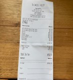 Receipt for lunch.